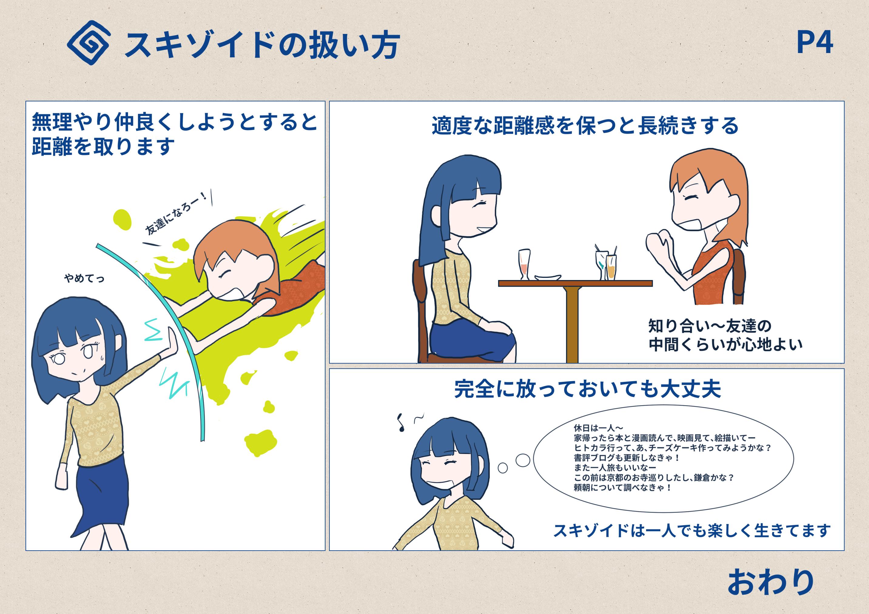 スキゾイドちゃん イラストまとめ | 人間社会の飛行法